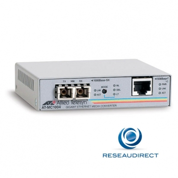 Allied Telesis AT-MC1004 Convertisseur Ethernet 1000mbs Rj45 Fibre multimode 1000SX - Obsolète nous consulter