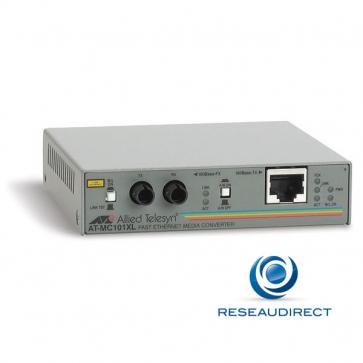 Allied Telesis AT-MC101XL-20 Convertisseur de média Ethernet 100mbs Rj45 100baseT - Fibre multimode 100BaseFx 2xST 2Km (1pce en stock)