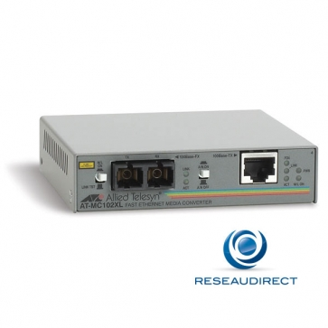Allied Telesis AT-MC102XL-20 Convertisseur de média Ethernet 100mbs Rj45 100baseT - Fibre multimode 100BaseFx 2xSC 2Km (3 pîèces en stock)