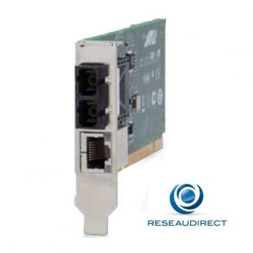 x Allied Telesis AT-MC102XL-PCI Carte PCI Convertisseur de média 100 Mbs Rj45 100baseT - Fibre multimode 100BaseFx 2xSC 2Km Obsolète