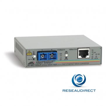 Allied Telesis AT-MC103LH-20 Convertisseur de média Ethernet 100mbs Rj45 100baseT - Fibre monomode 100BaseFx 2xSC 40Km