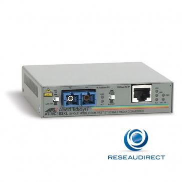 x Allied Telesis AT-MC103XL-20 Convertisseur de média Ethernet 100mbs Rj45 100baseT - Fibre monomode 100BaseFx 2xSC 15Km Obsolète