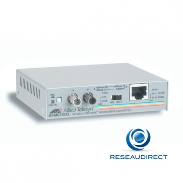 x Allied Telesis AT-MC115XL-60 Bridge Ethernet 10/100mbs Rj45 10/100baseT - Fibre multimode 10BaseFL/100BaseSX 2xST 2Km Obsolète
