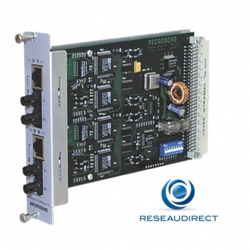 Microsens MS416231M-V2 Carte Twin Media Convertisseur Bridge Module 2x10/100TX-100FX SC-connecteurs 1310nm Multimode