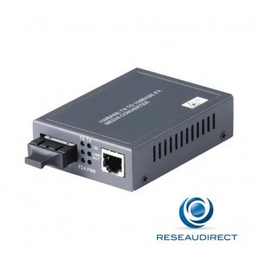 Netkea NTK-CFS2-30X Bridge Convertisseur Ethernet 10/100mbs Rj45 10/100baseT - Fibre monomode 100BaseFX 1310 nm 2xSC 30Km