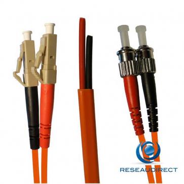 Netkea NTK50LC.ST.005S Jarretière OM2 LC-PC / ST-PC Bi-fibre optique Scindex 2.8 mm Multimode 50/125  Lg=05 m Surgainée