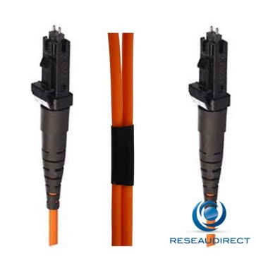 Netkea NTK50MT.MT.030 Jarretière OM2 MTRJ / MTRJ Bi-fibre optique Scindex 1.8 mm Multimode 50/125  Lg=30 m