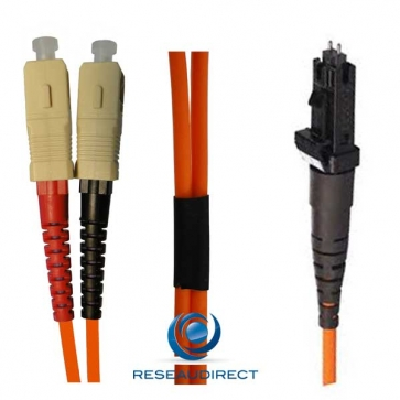 Netkea NTK50MT.SC.020 Jarretière OM2 MTRJ / SC-PC Bi-fibre optique Scindex 1.8 mm Multimode 50/125  Lg=20 m