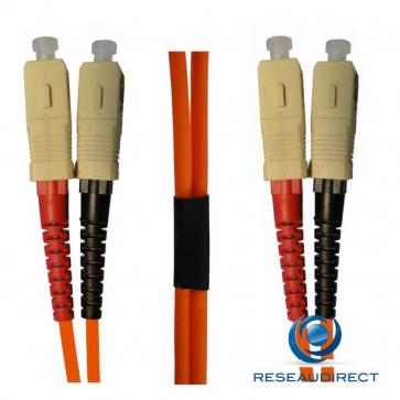Netkea NTK50SC.SC.015 Jarretière OM2 SC-PC / SC-PC Bi-fibre optique Scindex 2.8 mm Multimode 50/125  Lg=15 m