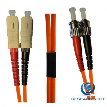 Netkea NTK50ST.SC.001 Jarretière OM2 ST-PC / SC-PC Bi-fibre optique Scindex 2.8 mm Multimode 50/125  Lg=1 m