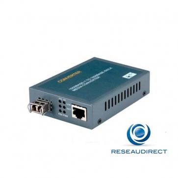 Netkea NTK-CSFP-FGRJ Bridge Convertisseur Ethernet 10/100/1000mbs Rj45 vers Gigabit 1000-x Solt SFP à équiper