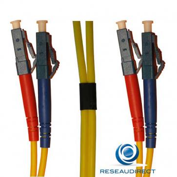 Netkea NTK09LC.LC.020 Jarretière fibre optique Bi-Fibre Scindex Monomode 09/125 LC - LC Longueur = 20 mètres