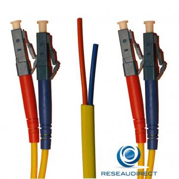 Netkea NTK09LC.LC.015S Jarretière OS2 LC-PC / LC-PC Bi-fibre optique Scindex 2.8 mm Monomode 9/125  Lg=15 m Surgainée