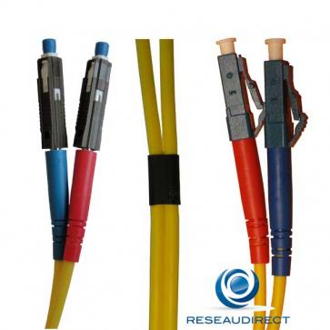 Netkea NTK09MU.LC.015 Jarretière fibre optique Bi-Fibre Scindex Monomode 09/125 MU / LC Longueur = 15 mètres