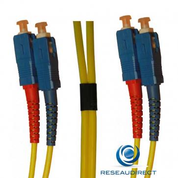 Netkea NTK09SC.SC.005 Jarretière fibre optique Bi-Fibre Scindex Monomode 9/125 SC PC - SCPC Longueur = 05 mètres