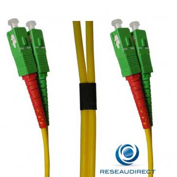 Netkea NTK09SCASCA0x5 Jarretière fibre optique Bi-Fibre Scindex Monomode 9/125 SCAPC - SCAPC Longueur = 0,5 mètre