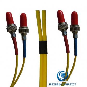 Netkea NTK09VFRVFR001 Jarretière fibre optique Bi-Fibre Scindex Monomode 9/125 Radiall VFO VFO Longueur = 01 mètres