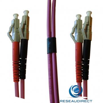 Netkea NTK53LC.LC.002 Jarretière OM3 LC-PC / LC-PC Bi-fibre optique Scindex 2.8 mm Multimode 50/125 Lg=02 m