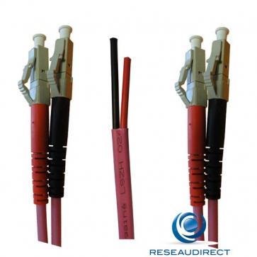 Netkea NTK53LC.LC.001S Jarretière OM3 LC-PC / LC-PC Bi-fibre optique Scindex 2.8 mm Multimode 50/125  Lg=01 m Surgainée