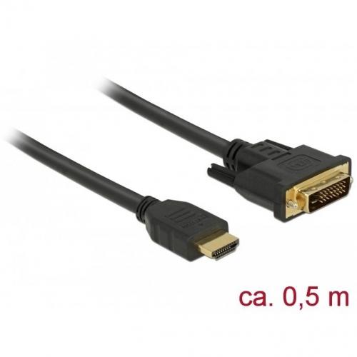 Câble bi-directionnel HDMI vers DVI 24+1 0.5m