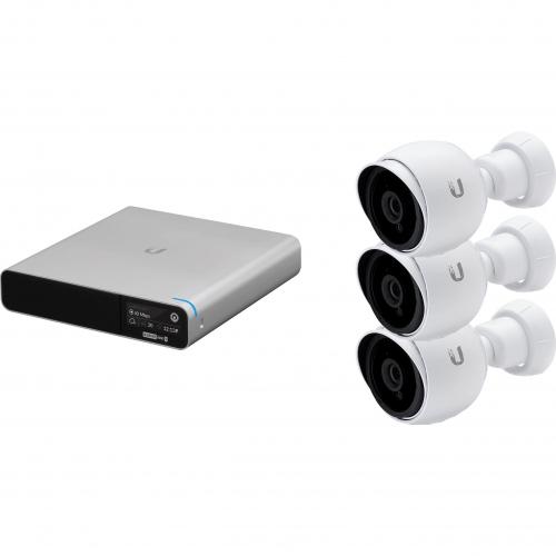 NVR + 3 caméras bullet HD audio IR int / ext