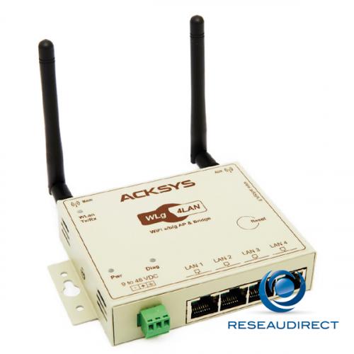 Acksys Ethernet Air-Pack pont Ethernet Wifi point à point sans fil 802.11a 5 Ghz 108 Mbs prêt à l'emploi avec alim