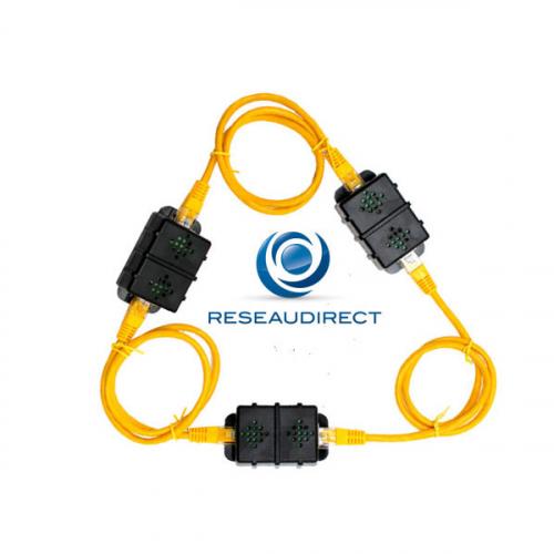 AKCP DCT00 Capteur de temperature avec 2 connecteurs RJ45 mini-boitier chaînable SecurityProbe SEC5e