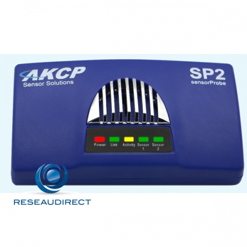 AKCP Sensorprobe2 SP2 Boitier de supervision IP SNMP NAGIOS Ethernet deux ports RJ45 libres pour capteurs intelligents en option