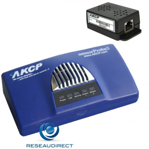 AKCP Sensorprobe2 SP2POE-TH300 POE SP2 avec capteur température/Humidité TMP00 déportable 300m Power Over Ethernet