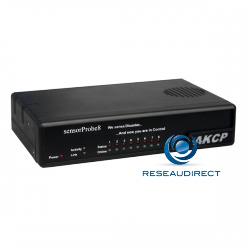 AKCP Sensorprobe8 SP8 Boitier de monitoring IP SNMP NAGIOS Ethernet avec 8 ports pour capteurs - en option