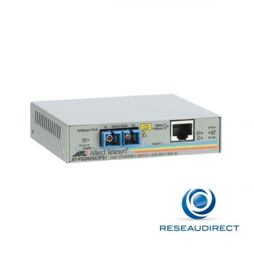 Allied Telesis AT-FS202-60 Bridge Ethernet 10/100mbs Rj45 10/100baseT - Fibre multimode 100BaseFX 1310nm 2xSC 2Km