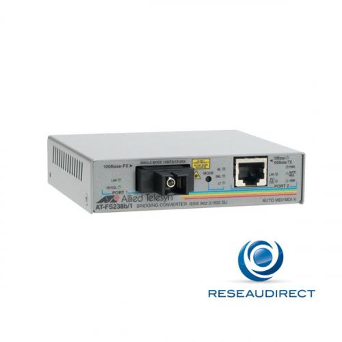 Allied Telesis AT-FS238A/1-60 Bridge WDM BIDI Ethernet Rj45 - Fibre monomode 100FX TX-1310nm RX-1550nm 1xSC 15Km