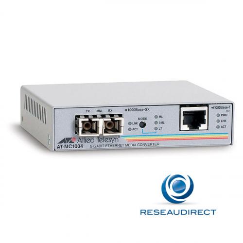 Allied Telesis AT-MC1004 Convertisseur Ethernet 1000mbs Rj45 Fibre multimode 1000SX - Obsolète nous consulter
