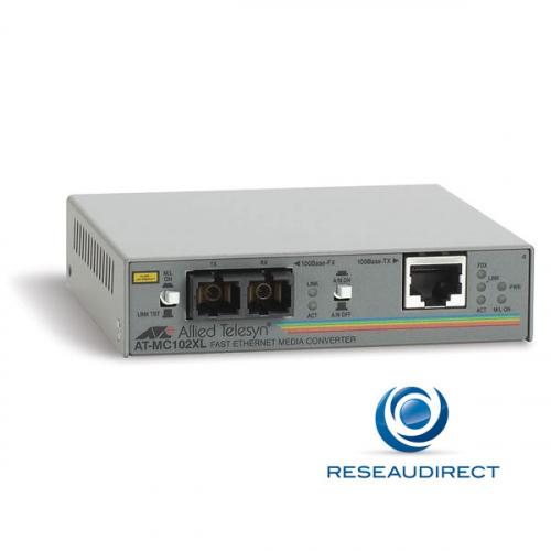 Allied Telesis AT-MC102XL-20 Convertisseur de média Ethernet 100mbs Rj45 100baseT - Fibre multimode 100BaseFx 2xSC 2Km (3 pîèces en stock)