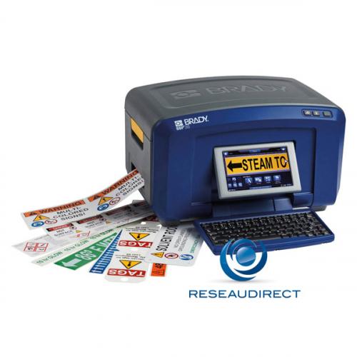 Brady BBP35-AZERTY 143635 Imprimante de bureau clavier écran couleur pour impressions étiquettes sécurité industrie multi-couleurs