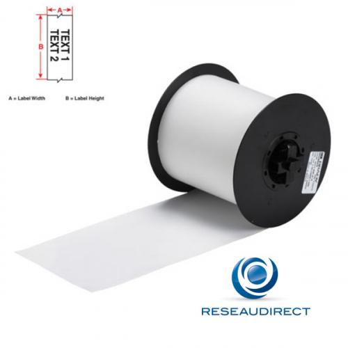 Brady Minimark B595 113182 étiquettes en continu Vinyle ultra-résistant indoor-outdoor l=100 mm L=30 m Blanc
