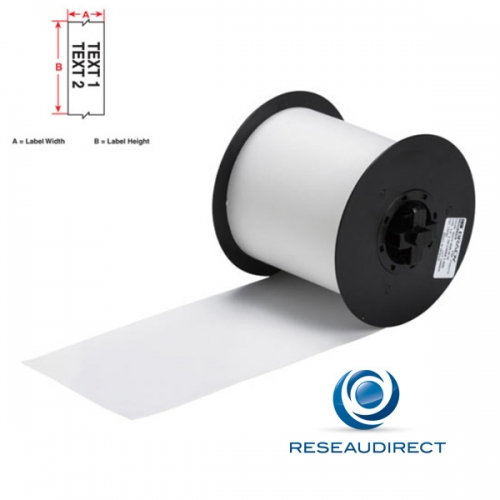 Brady Minimark B595 113187 étiquettes en continu Vinyle ultra-résistant indoor-outdoor l=100 mm L=30 m Transparent