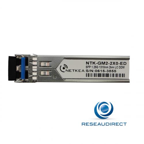Netkea BRC-GM2-2X0-ED SFP Compatible Brocade E1MG-EXM-OM-T-EQ 1000Base-EX Multimode 1310nm 1/2Km 2xLC DOM -40/+85°C