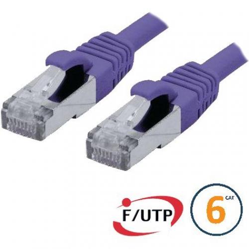 Cordon RJ45 Cat 6 F/UTP Primacy  0.3m violet
