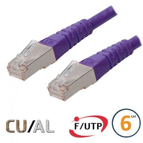 Cordon RJ45 Cat 6 F/UTP Classic  0.3m violet