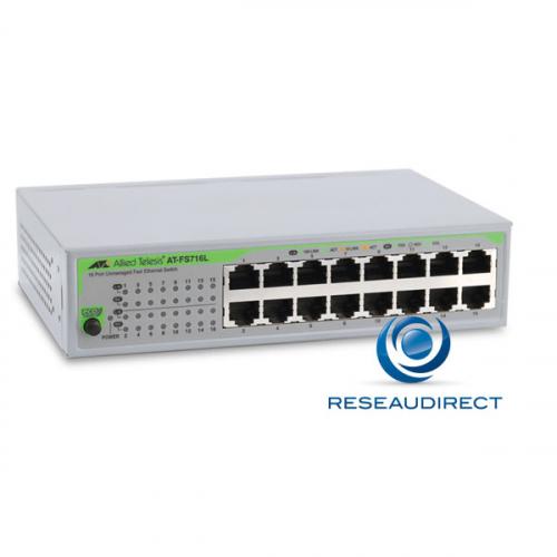Allied Telesis AT-FS716L-50 Commutateur Fast Ethernet 16 ports Eco 10/100 Mbs rackable 19pouces alim 220V interne