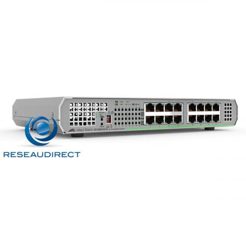 Allied Telesis AT-GS910/16-50 Centrecom Commutateur Gigabit Ethernet 16 10/100/1000 Mbs rackable en option alim 220V interne