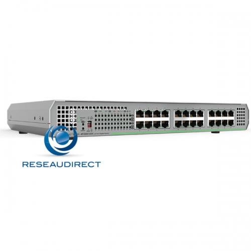 Allied Telesis AT-GS910/24-50 Centrecom Commutateur Gigabit Ethernet 24 10/100/1000 Mbs rackable en option alim 220V interne