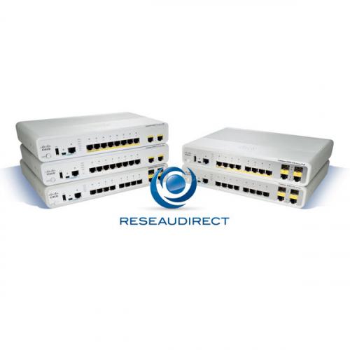 Cisco Catalyst 2960C-8TC-L switch Ethernet 8 ports 10/100 Mbs 2 combos SFP/RJ45 configurable Niveau 2/3 Lan Lite