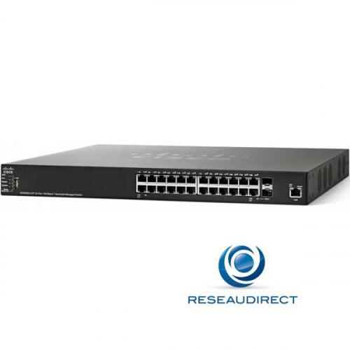 Cisco SG350XG-24T-K9 Switch stackable full 10 gigabit 480 Gbps standard 24 ports RJ45 10Gbase-T 2 ports SFP+10G