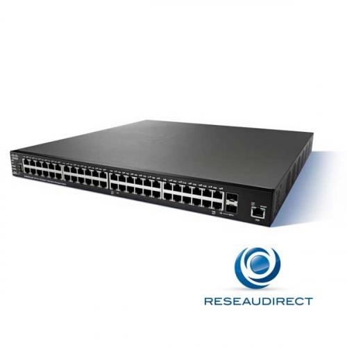 Cisco SG350XG-48T Switch stackable full 10 gigabit 960 Gbps standard 46 ports RJ45 10Gbase-T 2 ports SFP+/RJ45 10G