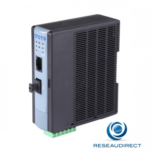 CTS WAC-2012 SFP Convertisseur Industriel rail DIN Rj45 10/100 Base T Fibre monomode Slot SFP vide -20/+60°C