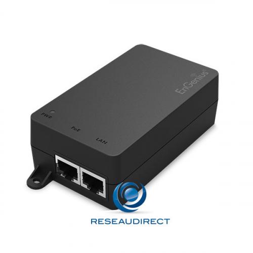 Engenius EPA5006GAT Injecteur POE 1 port Giga RJ45 30 watts Midspan POE+ 802.3 at mono-port 220V compact