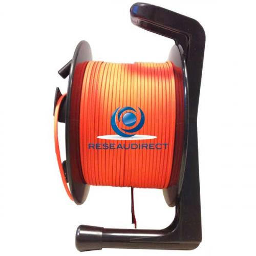 Netkea NTK-DRL-100M Enrouleur Dérouleur pour fibre optique vidéo avec fllasques latérales pour câble surgainé moins de 100 mètres