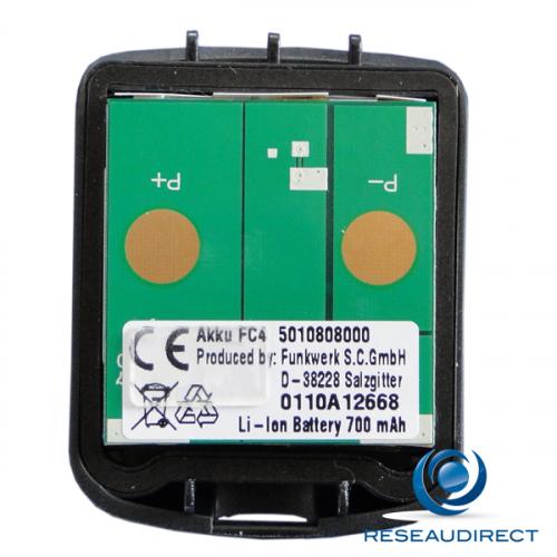 Funktel Batterie pour téléphone FC4 Ex Atex Lithium Ion 650 mAh avec capot à vis Torx Ref Funkwerk 5010828000